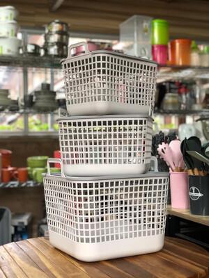 Heavy Duty Plastic  Laundry Basket Set,1Large 13
