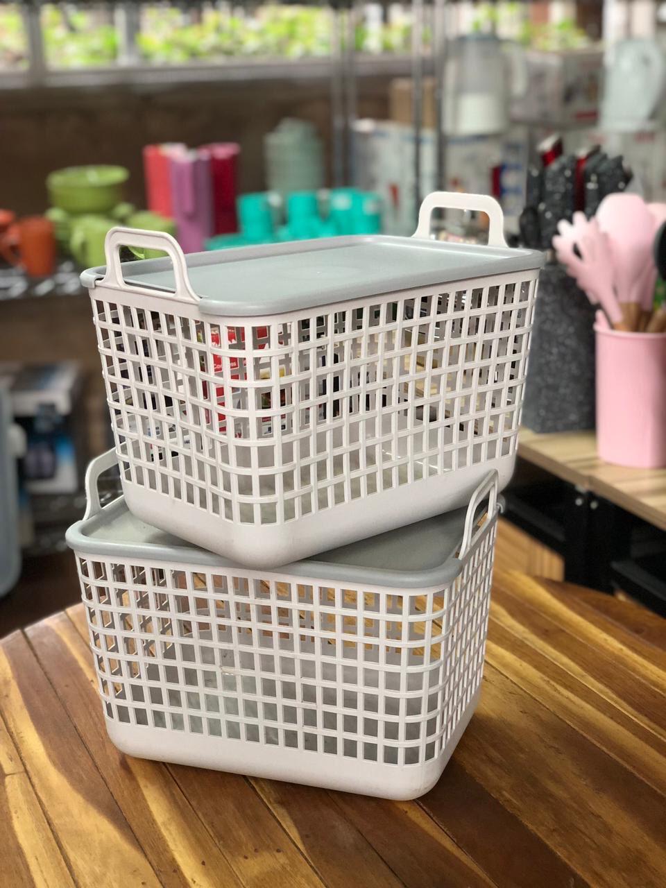Basket Organiser Set of 2, picnic basket, Storage basket small 11