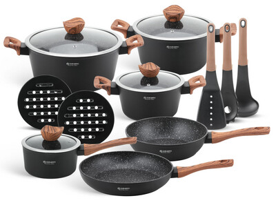 Cookware set with kitchen tools 15pcs EB-5616