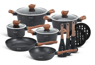 Cookware set with kitchen tools 15pcs EB-5617