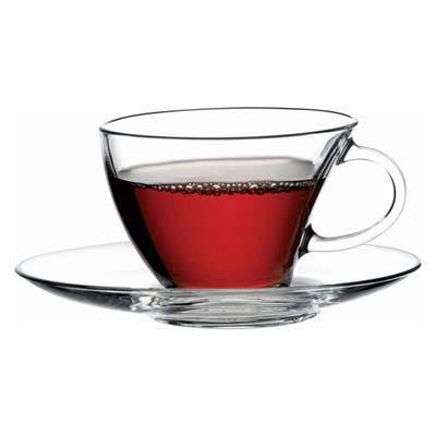Pasabahce Penguen Tea Cup Set Glass # 98396 Set Of 6