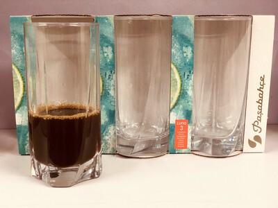 Pasabahce Luna Water Glasses  390cc #42358 Set Of 3