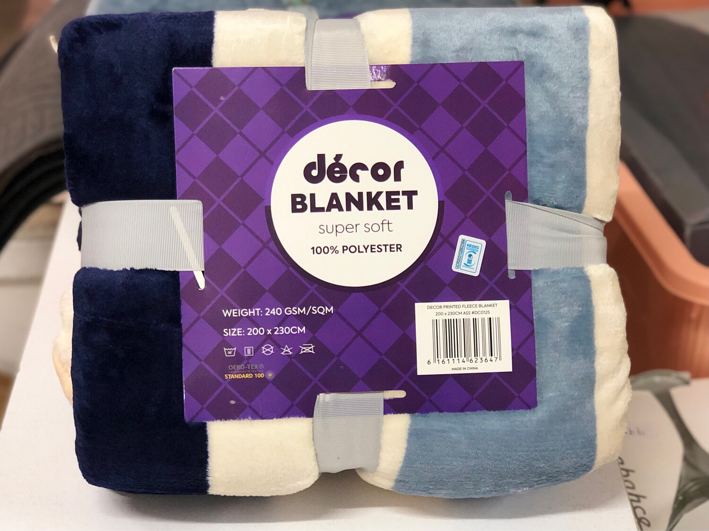 Decor Soft Blanket Fleece/Throw 200x230cm 270GSM #274393
