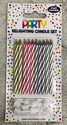 Party Birthday Candles 10pk
