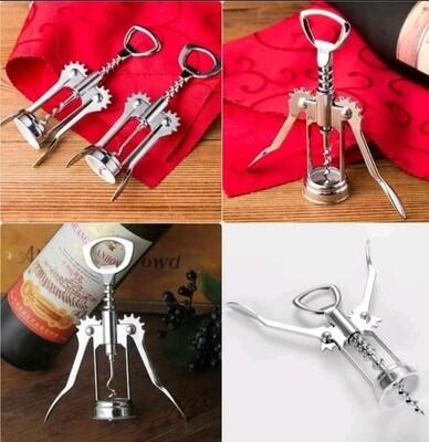 Wine bottle opener cork screw opener