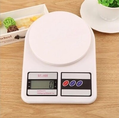 Kitchen weigh scale 10kg battery powered