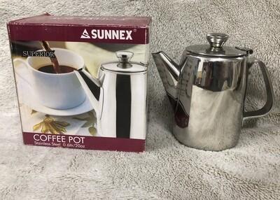 Sunnex stainless steel coffee pot 0.6L/20Ofl