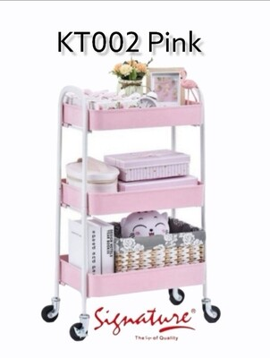 SIGNATURE KT002 Metal Rack trolley Multipurpose Use Available colors: Ivory/Blue