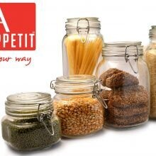 Bon Appetit Glass Clip Jar 2L with Clip lock Allows jar to stay airtight