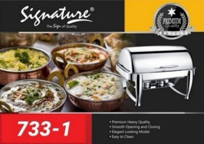 Signature 9L Stainless chafing dish with glass window (3 compartments)