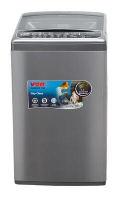 Von Hotpoint VALW-12TSX Top Load Washing Machine,12KG - Stainless Steel