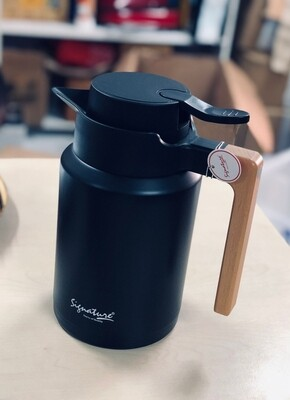 Signature unbreakable vacuum flask 1.5L choice of black, silver, wood