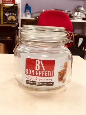 Bon Appetit Glass Clip Jar 0.75L with Clip lock Allows jar to stay airtight
