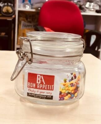 Bon Appetit Glass Clip Jar 0.5L with Clip lock Allows jar to stay airtight