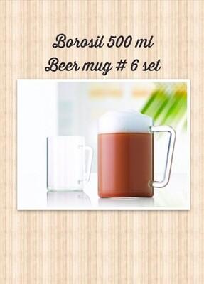Heat Resistant High Borosilicate Glassware 500 ml Beer Mugs