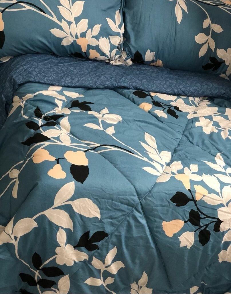 CIH comforter duvet with 1 flat sheet,2 pillow cases Cotton 140GSM 6*6 king size.