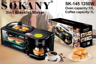 Sokany breakfast maker with coffee maker
