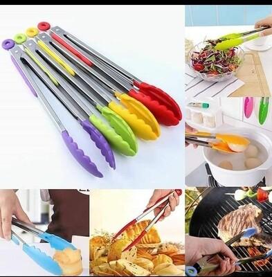 Long kitchen tongs