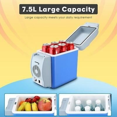 Portable Car fridge hot & cold. Kindly watch the video on how to use it! Capacity: 7.5ltrs