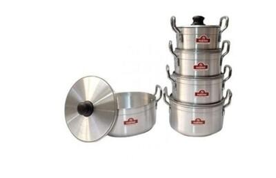 Rashnik 5 pcs stainless aluminium cooking pots