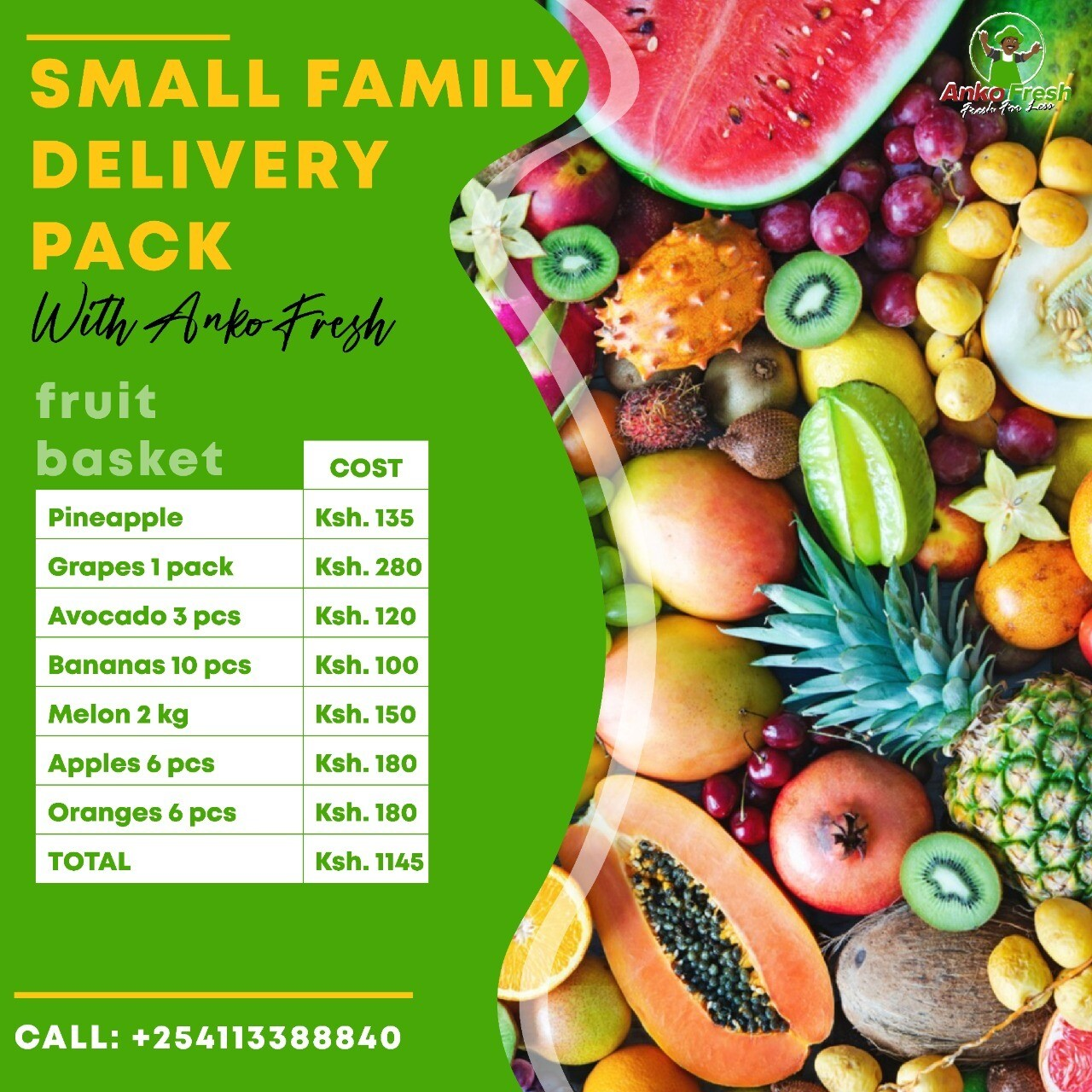 Anko flexible fruit basket click on link to  here to build your own assortment