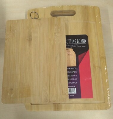 Bamboo chopping board set large size 26x36CM & Small size 20x28CM