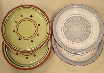 Spiral Ceramic dinner plate set of 4 ,10.5inch#DS01/DS02