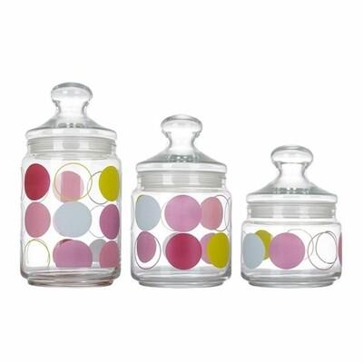 Luminarc zoom Glass jars 3pc 0.5L,0.75L,1L