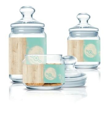 Luminarc Nordic glass jar 3pc set 0.5L,0.75L,1L