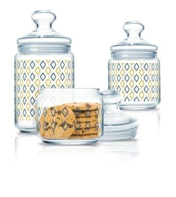 Luminarc siloe farimer glass jars 0.5L,0.75L,1L