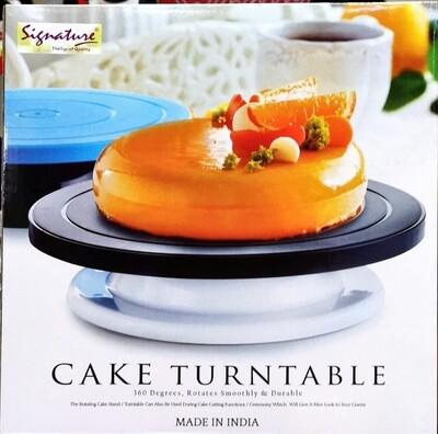 Signature cake turn table 28cm rotates 360 smoothly