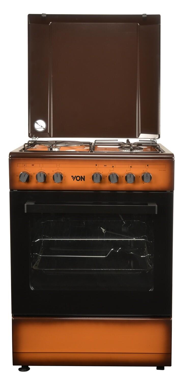 Von 7312NED/VAC6S031UD 3 Gas + 1 Electric Cooker - TDF Dark