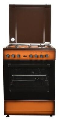 Von Hotpoint 7312NED/VAC6S031UD 3 Gas + 1 Electric Cooker - TDF Dark