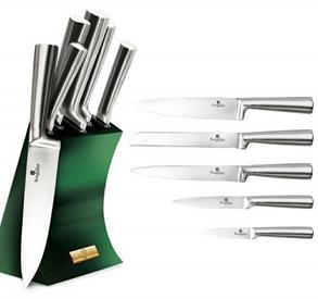 Edenberg 6pcs Knife Set, SS Stand In Color DK.Green EB-11008