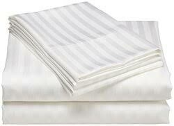 Camel Bedsheet hotel white stripe 6pc ,2 bedsheets,4 pillow cases 7x6 250x280cms