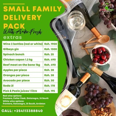 Single people, bachelors fruits & vegetables pack for 1 week . Follow link to choose extras meats, wine gin, milk etc.