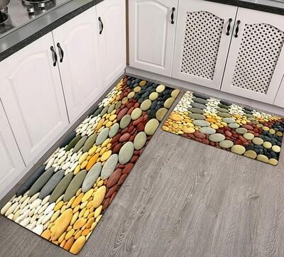 3D kitchen 2pc mats with a non slip grip 40x120,40x60