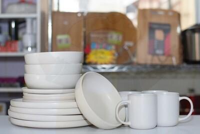 Ceramic dinner set 16 piece with 4bowls,4sideplates, 4mugs, 4dinner plates K71 on wholesale price