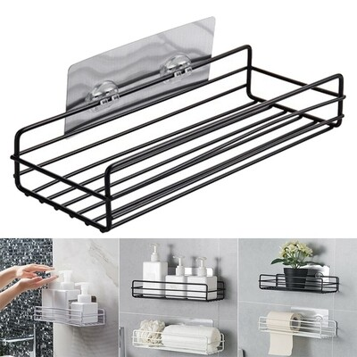 Bathroom Wall metallic accessories holder. Comes with an strong adhesive stickers 27cmx12cm