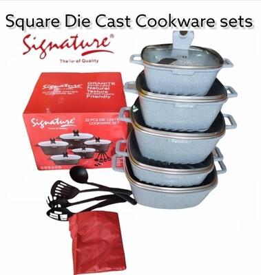 Signature die cast cookeware set sufurias 10pcs