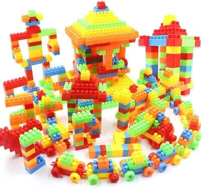 Building blocks with 416pcs plus 3L storage container easy to remove blocks