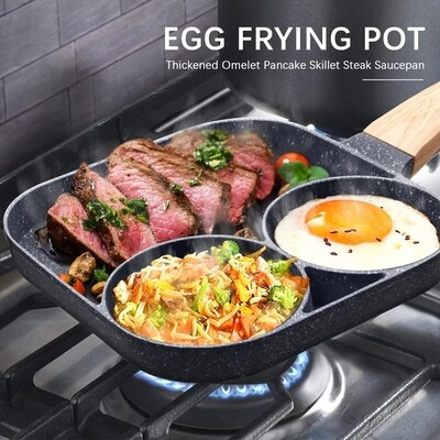 Egg frying pan. thickened omelet pancake steak saucepan