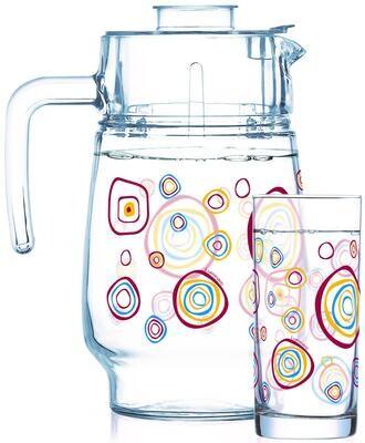 Luminarc Leora 7pc Water Set (1JUG + 6 GLASSES) Gift set