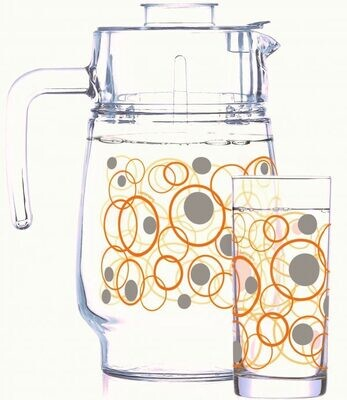 Luminarc Isora 7pc Water Set (1JUG + 6 GLASSES) Gift set