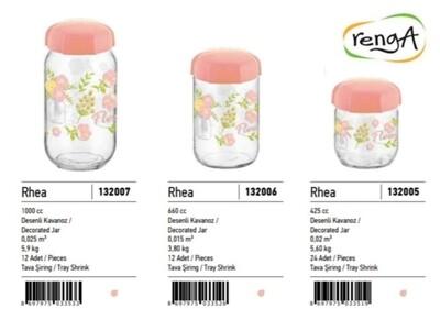 Renga decorated plastic jars 600ml