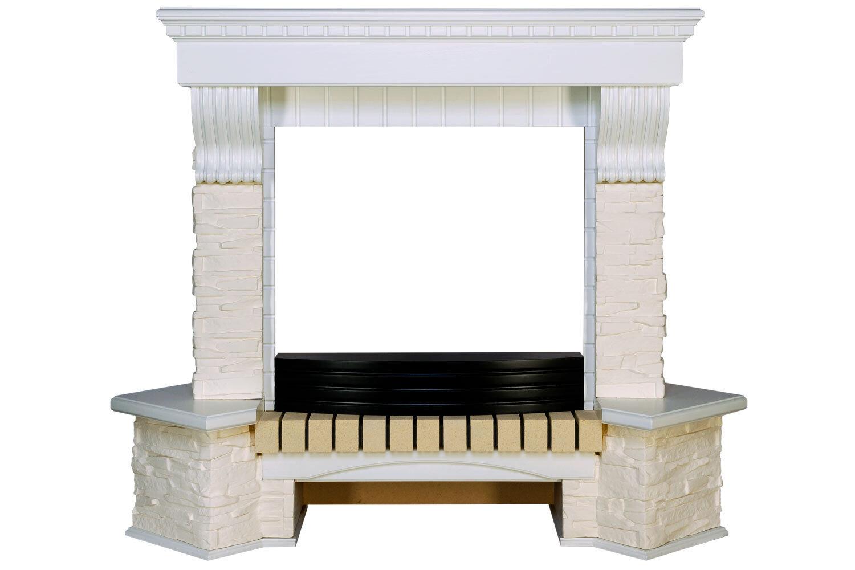 Портал Pierre Luxe угловой - Белый / Сланец белый (Royal Flame)