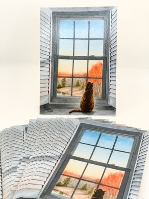 Yam Looking Out The Window Print