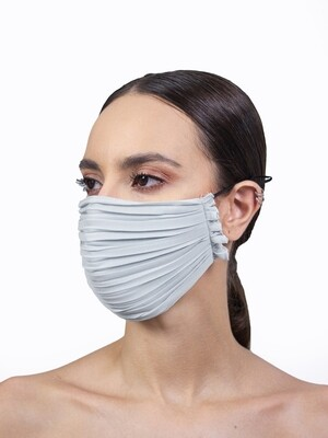 PLEATED FACE MASK - LIGHT GREY