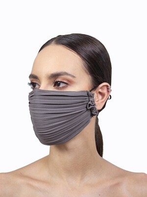 PLEATED FACE MASK - DARK GREY