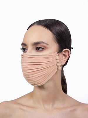PLEATED FACE MASK - NUDE